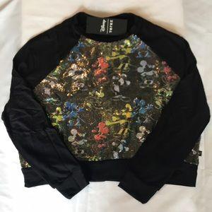 Disney Terez Sequined Top Shirt NEW